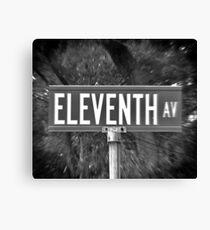 Eleventh Av Street Sign Canvas Print