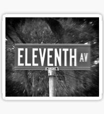 Eleventh Av Street Sign Sticker