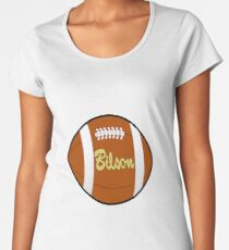 T-shirt, oval ball shirt baysibool american sport football Women's Premium T-Shirt