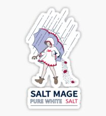 Pure White Salt Mage - Light Backgrounds Sticker