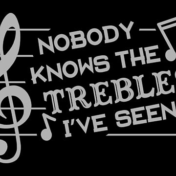 Funny Musicians Treble Joke Pun | Music Teachers by emkayhess
