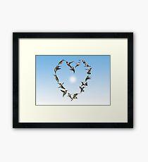 Hummingbird love heart Framed Print