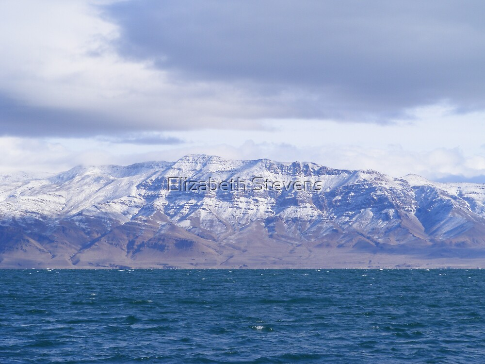 Snow Marbled Mountains by Elizabeth Stevens