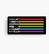 Lightsaber Rainbow Canvas Print