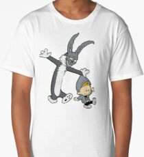 Donnie Darko / Calvin & Hobbes Mash-up Long T-Shirt