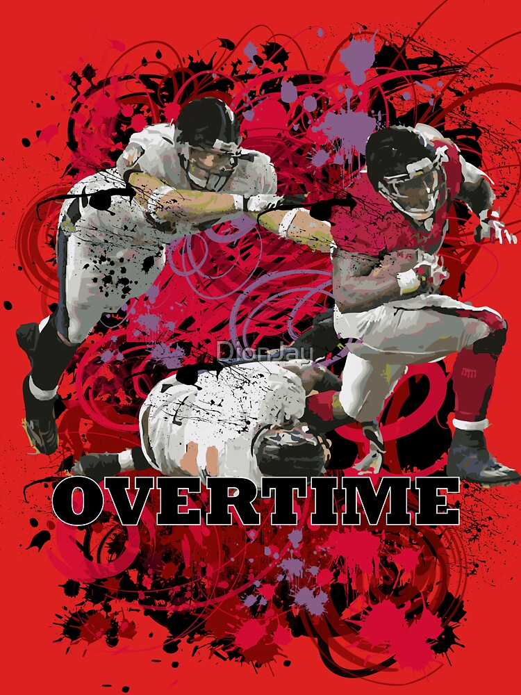 OVERTIME (RECIEVER) RED by DionJay