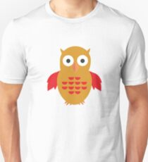 Yellow & Red Owl (Pattern) T-Shirt