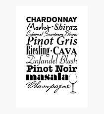 Wine...  Photographic Print