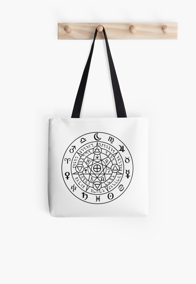 Wiccan Symbol Of Protection Tote Bags By Handcraftline Redbubble
