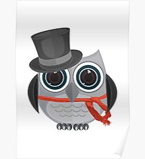 Top Hat Owl - Large Poster