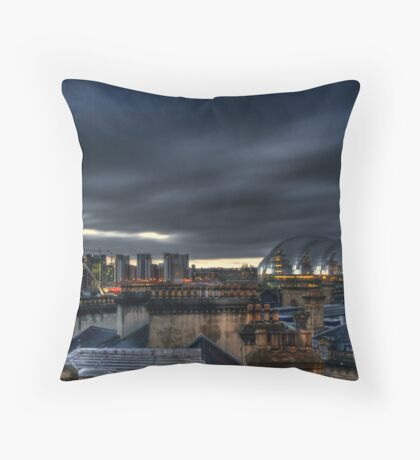 Over the Chimney Pots Throw Pillow