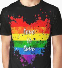 Camiseta gráfica El amor es el amor