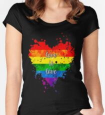 Love is love Fitted Scoop T-Shirt