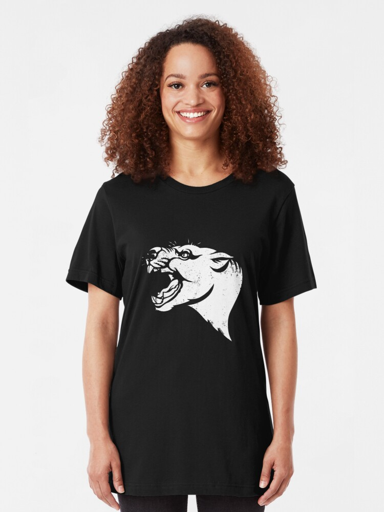 Alternate view of Thylacoleo stencil Slim Fit T-Shirt