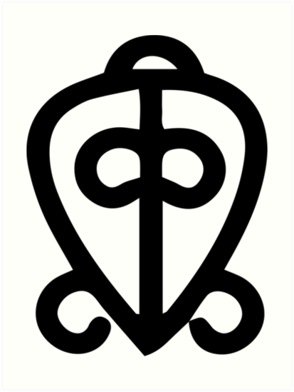 Adinkra Symbol Power Of Love Art Prints By Handcraftline Redbubble