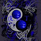 BASKETBALL YIN YANG(BLUE) by DionJay