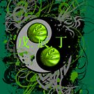 BASKETBALL YIN YANG(GREEN) by DionJay