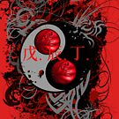 BASKETBALL YIN YANG(RED) by DionJay
