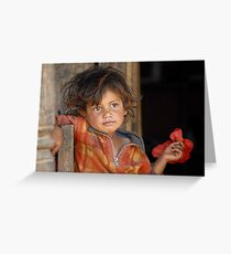 A young boy from Nepal  Greeting Card