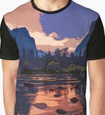 Yosemite National Park at Sunset Graphic T-Shirt