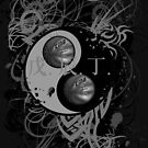 BASKETBALL YIN YANG(BLACK AND WHITE) by DionJay