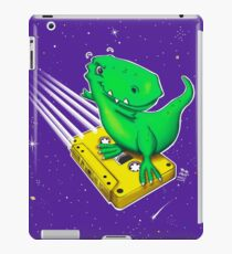 Surfing old school – Horst the T-Rex in space iPad Case/Skin