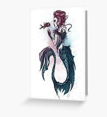 Punk Mermaid  Greeting Card