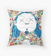 Takashi Murakami - Self portrait of the distressed artist Throw Pillow