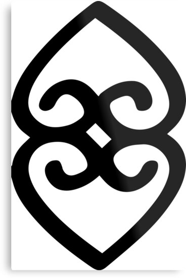 Adinkra Symbol Of Providence And The Divinity Of Mother Earth Metal