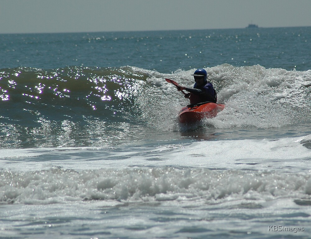 Kayak in the Waves by KBSImages