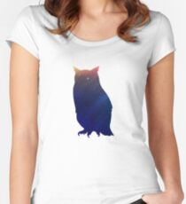 Owl Space Women's Fitted Scoop T-Shirt