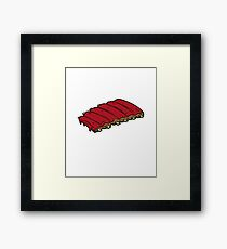 Smoke Ribs Not Drugs Framed Print