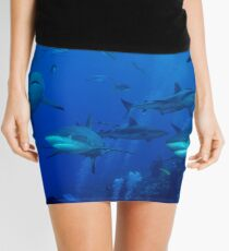 Grey Reef Sharks Great Barrier Reef Australia Mini Skirt
