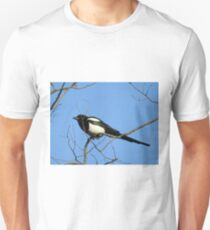 Perching Magpie Unisex T-Shirt