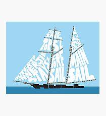 Tops'l Schooner Sail/Spar Plan Photographic Print