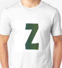 colorful illustration  with  neon letter Z  on white background Unisex T-Shirt