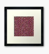 Botanical: Maroon Vine Framed Print