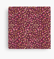 Botanical: Maroon Vine Canvas Print