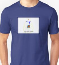 Snowman Best Friend for Boys in Blue Unisex T-Shirt