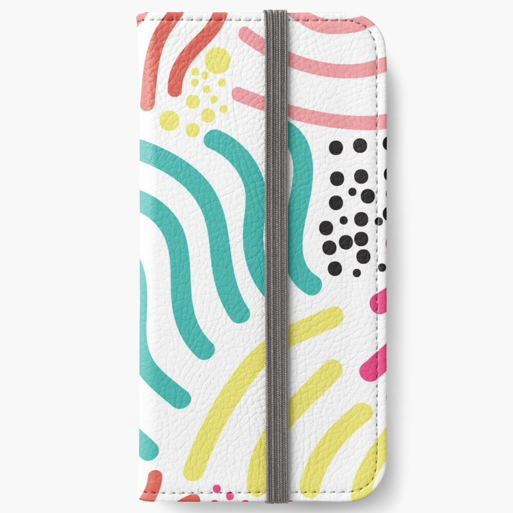 Bunter Aboriginaldruck! iPhone Flip-Case