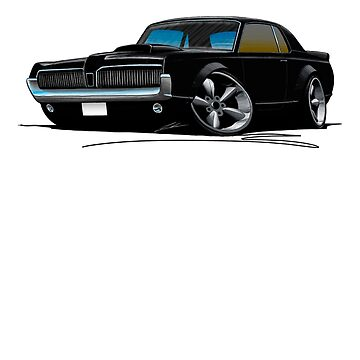 Mercury Cougar (1968)(A) Black by yeomanscarart