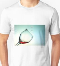Fishing On A Glass Cup With Red Wine Droplets Unisex T-Shirt