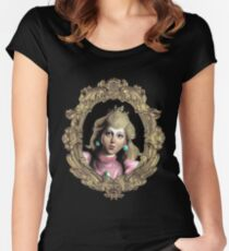 Baroque Peach  Women's Fitted Scoop T-Shirt