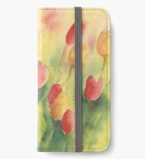 Red and yellow tulips iPhone Wallet/Case/Skin