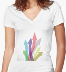 arrow set Women's Fitted V-Neck T-Shirt