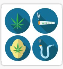 cannabis icons Sticker