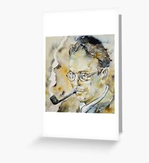 RAYMOND CHANDLER - watercolor portrait.2 Greeting Card