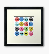 mustaches icons Framed Print