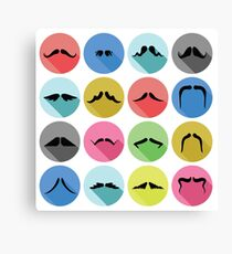 mustaches icons Canvas Print
