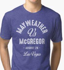 Mayweather vs McGregor Tri-blend T-Shirt